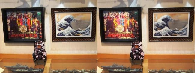 硝子の城 リビングルーム MOTOs Museum④(交差法)