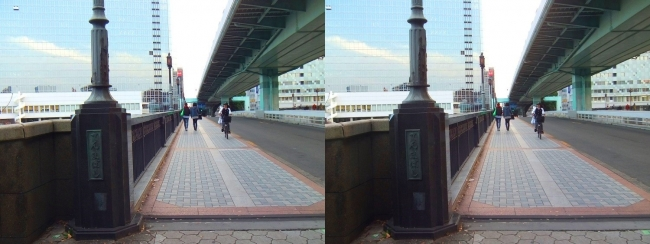 大阪 大川沿い③(交差法)