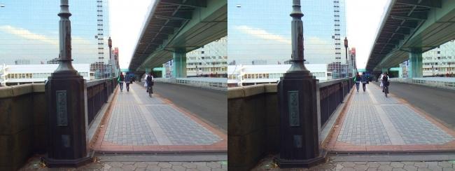 大阪 大川沿い③(平行法)