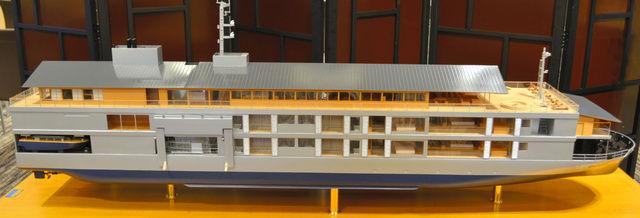 瀬戸内クルーズ客船 guntû(ガンツウ)模型