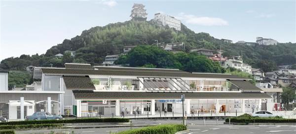 尾道の新駅舎(完成予想図)
