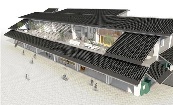 尾道の新駅舎(完成予想図)1