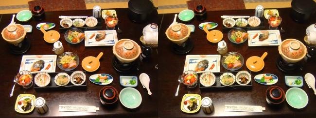 城崎温泉 旅館まつや 朝食(交差法)