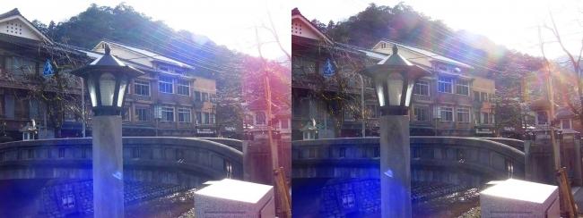 城崎温泉 愛宕橋 旅館まつや(交差法)