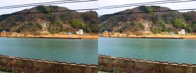 円山川・玄武洞公園(平行法)
