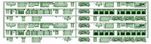 HO-HK50-40 5000系冷房化後 3_3連床下機器【武蔵模型工房 Nゲージ 鉄道模型】