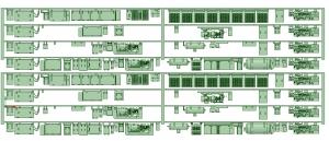 HO-NS51-01 5100系 床下機器【武蔵模型工房 HO 鉄道模型】