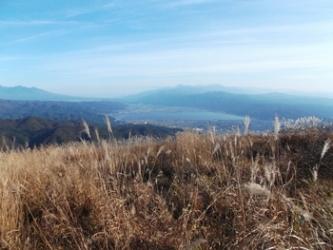 高ボッチ山からの眺め(22日15時頃)