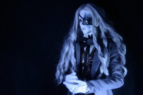 Ring doll、杉苔の空さんにメイクして頂いた、ゾンビヘッド・KaneのKarma。Warren服を着せたら、ノーブルな貴公子のようになりました。