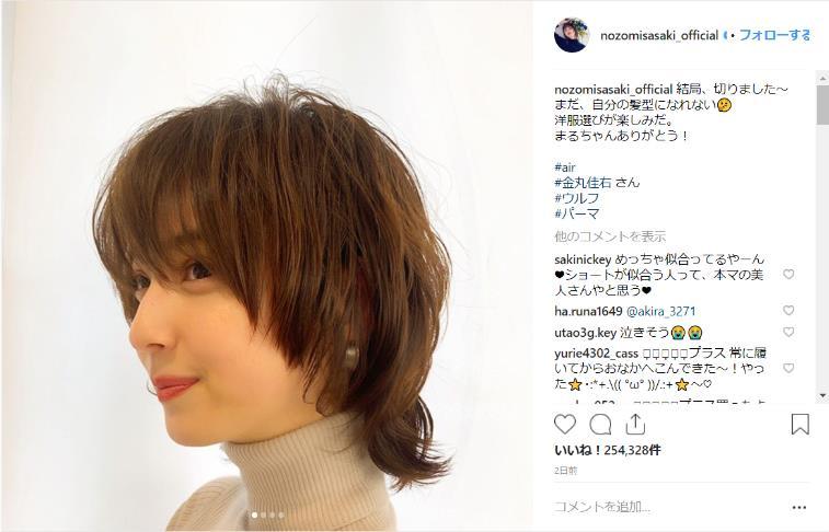 佐々木希 ショート 髪