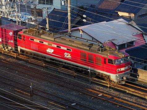 JR貨物 EF510電気機関車牽引の貨物列車【金沢駅付近】