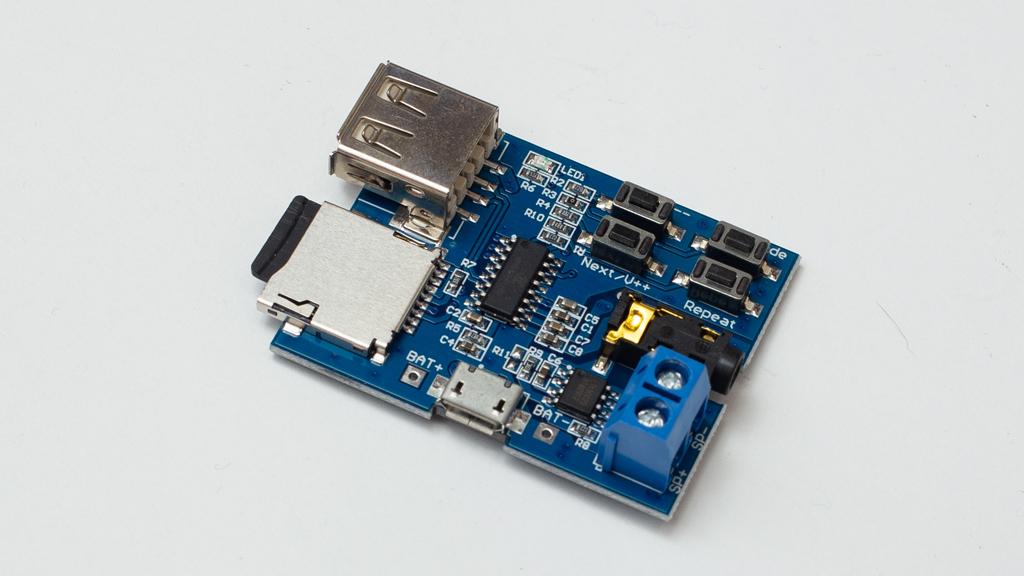 KKHMF高音質 TFカードUディスク MP3デコーダ モジュール デコーダボード無損失デコード増幅器