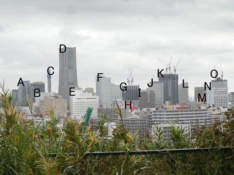 唐沢公園からの眺め@横浜市南区 文字