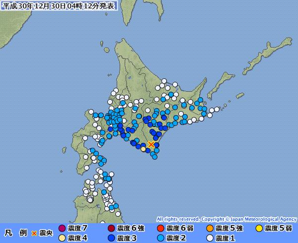 北海道で最大震度4の地震発生 M5.4 震源地は十勝地方南部 深さ約50km