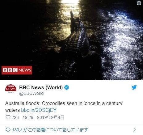 【大雨】オーストラリア北東部で「100年に1度」クラスの洪水が発生