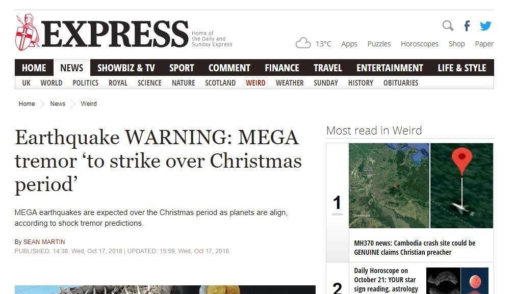【クリスマス】2018年12月21~25日の間に「M8クラス」の巨大地震が発生する!フッガービーツの予知予言