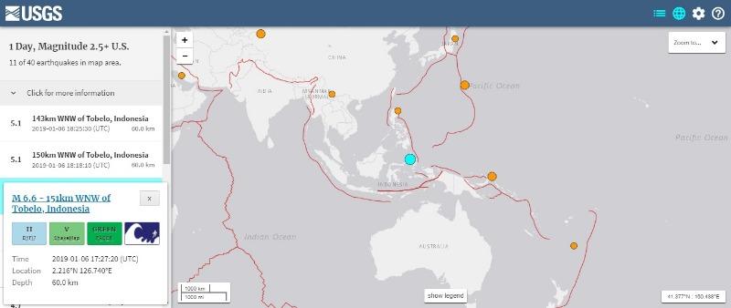 【海外】インドネシアで「M6.6」の地震…ブラジルでも「M6.8」の地震発生