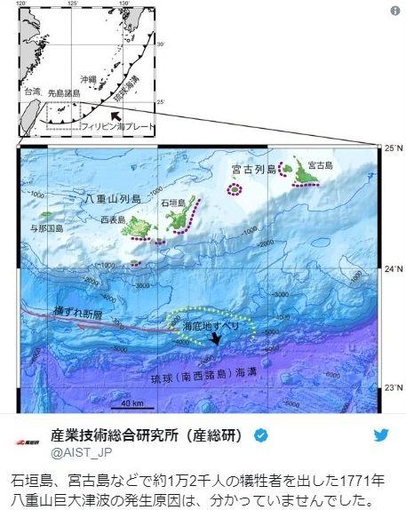 【沖縄】1771年に起きた「八重山巨大津波」は大規模な海底地滑りが原因か