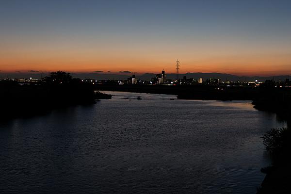 庄内川夕景