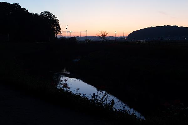 香流川夕暮れ