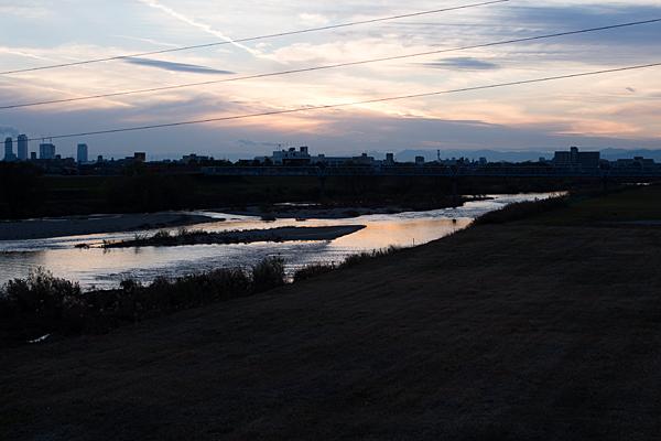 庄内川夕暮れ