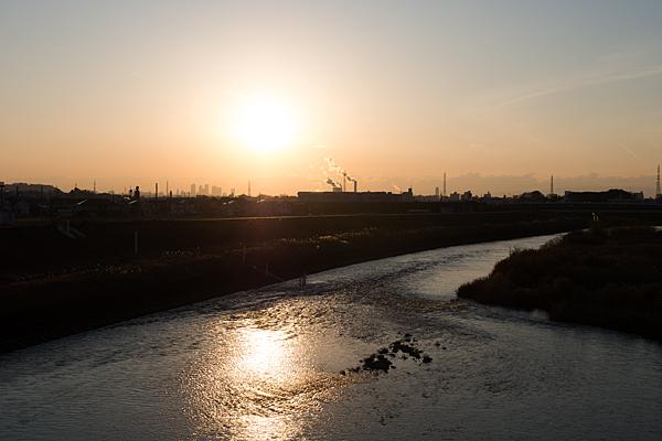 庄内川夕焼け