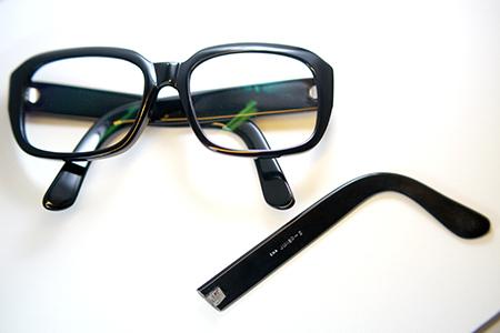 めがね うで テンプル 製作 修理 見附市 長岡市 メガネ 稲田眼鏡店
