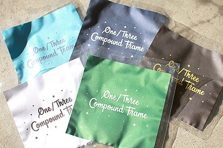 One/Three Compound Frame Glasses Cloth THE 2nd めがね拭き クロス ワンスリー 新潟県