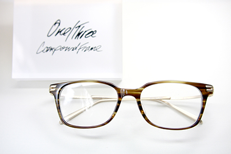 One/Three Compound Frame 可愛い おしゃれな めがね 新潟県 見附市 稲田眼鏡店