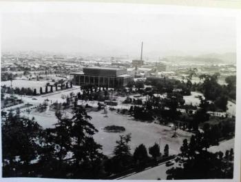 小倉城からの眺め 1965年8月