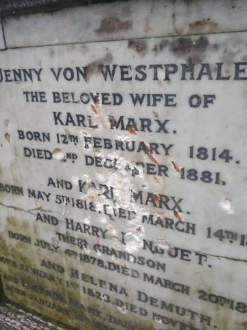 マルクス墓銘板