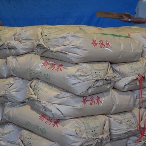 米検査前30Kg玄米袋