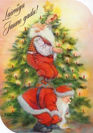 クリスマスカード  ラトビア