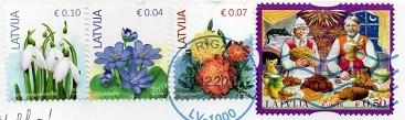 切手2  ラトビア