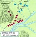 ya.山崎の戦い布陣図