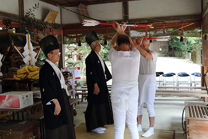 夜支布山口神社 秋祭り2