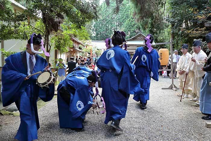 夜支布山口神社 秋祭り5