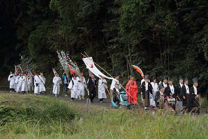 夜支布山口神社 秋祭り7