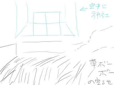 空中に神社
