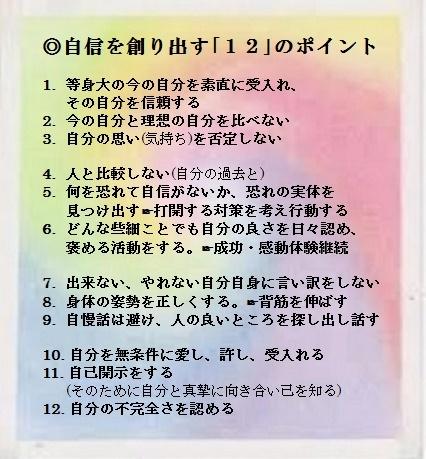 ◎自信を創り出す「12」のポイント - コピー