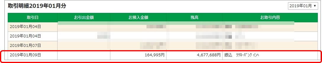 ラッキーバンク_01振込額