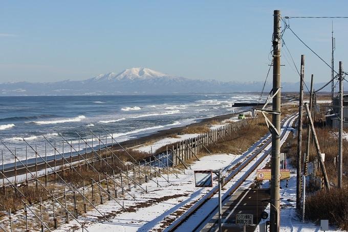 北浜駅から海別岳