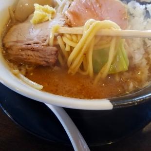 八堀之内 濃厚味噌ラーメン 麺スープ