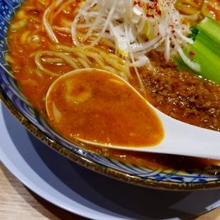 竜胆 担々麺 スープ
