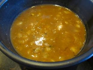 猫満 濃厚味噌つけ麺 つけ汁