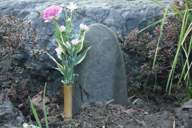 ラブラドール番犬の墓