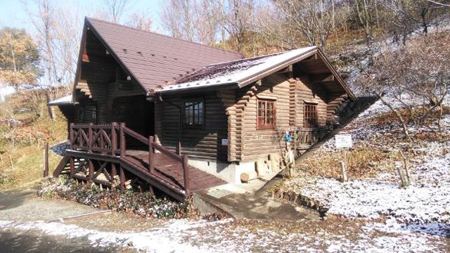 南平のログハウス公園管理棟