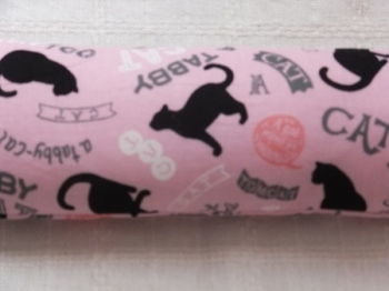 黒猫シルエット ピンク 1
