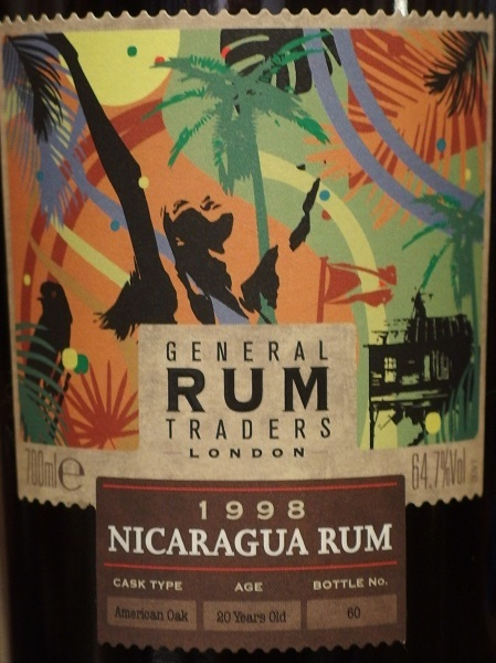 GENERAL RUM TRADERS NICARAGUA RUM 1998_L600