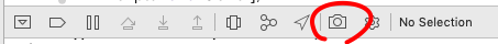 Xcodeのカメラボタン